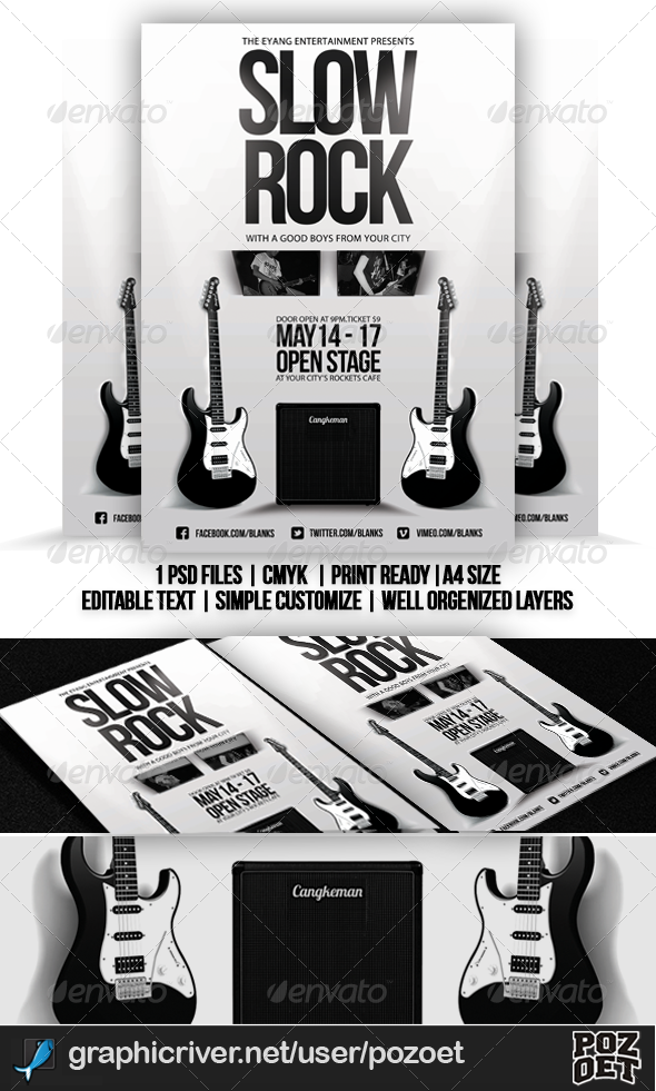 Slow Rock Flyer Template - Concerts Events