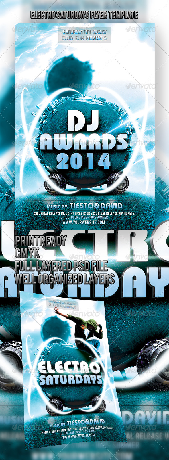 Electro Saturdays Flyer Template - Events Flyers