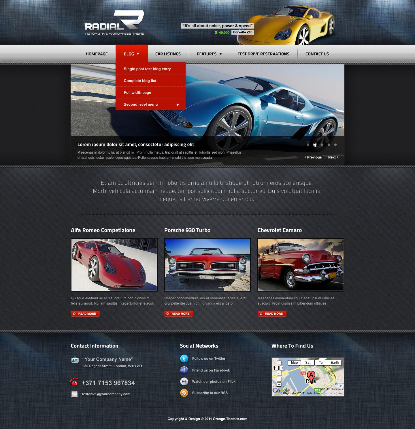 Radial - Premium Automotive & Tech HTML Template by orange-themes ...
