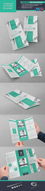 Corporate Tri-Fold Template - Brochures Print Templates