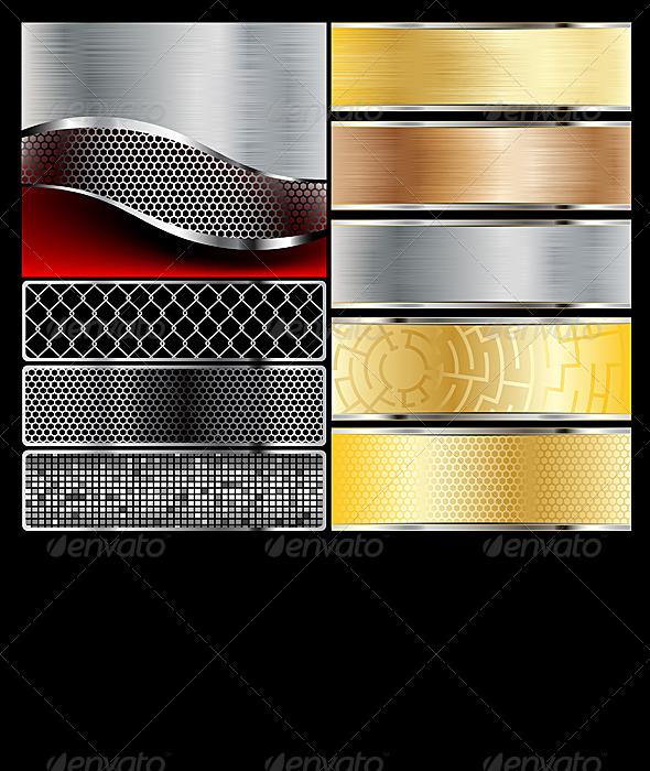 Metal  - Backgrounds Decorative