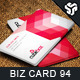 Business Card Design 94 - GraphicRiver Item for Sale