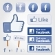 Facebook Social Set Icon Button Like Symbol - GraphicRiver Item for Sale