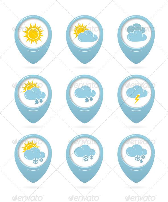 Weather Web Elements - Seasons Nature
