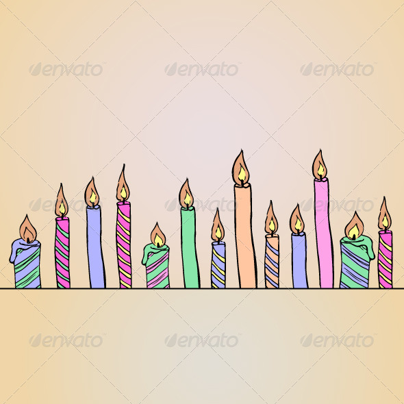 Birthday Candles Card - Birthdays Seasons/Holidays