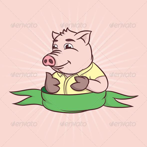 Thumbs Cartoon Pig - Animals Characters