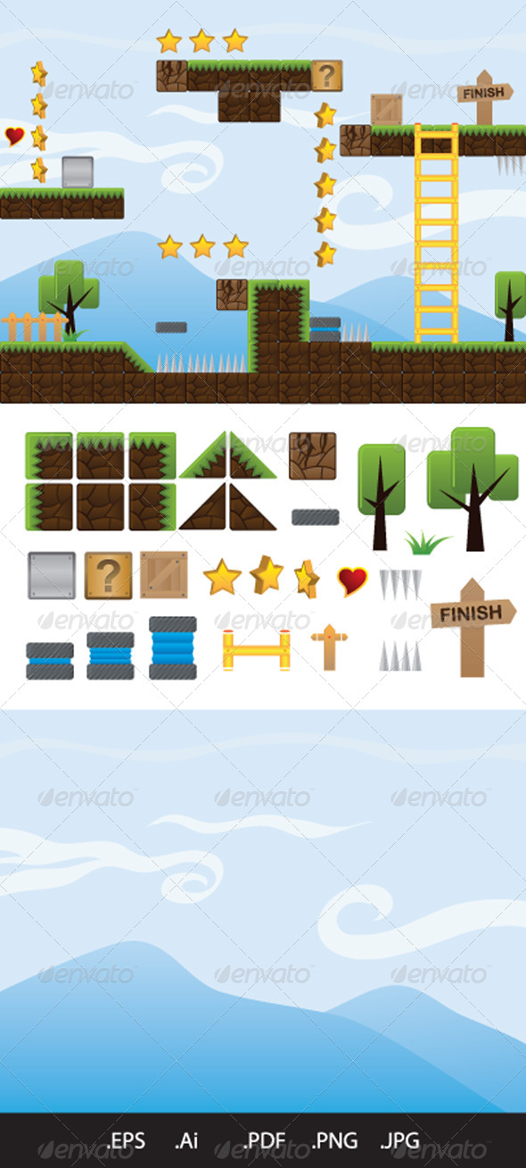 Illustrations for Game - Tilesets Game Assets