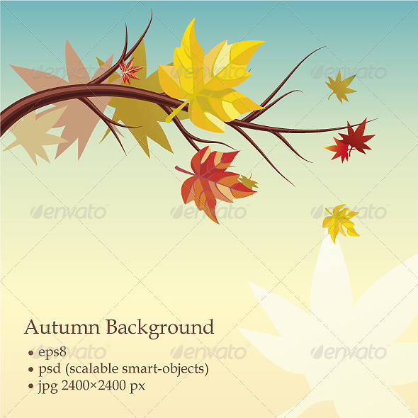 Autumn Background  - Decorative Vectors