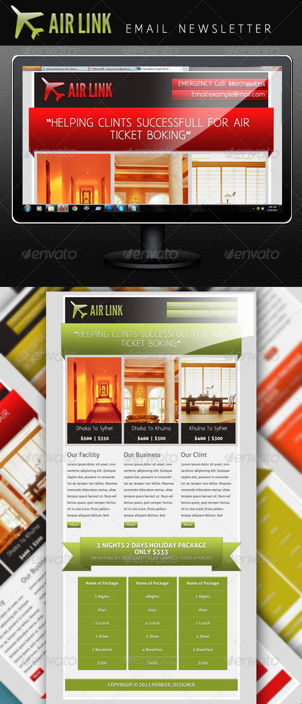 Air Link - E-newsletters Web Elements