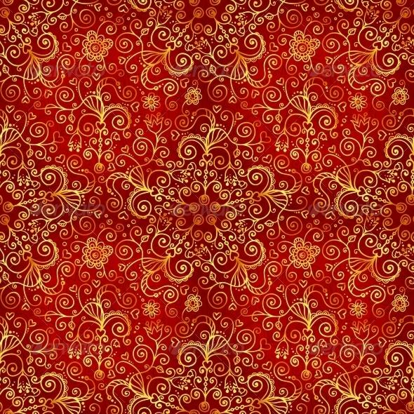 Vector Doodles Vintage Ornate Seamless Pattern - Patterns Decorative