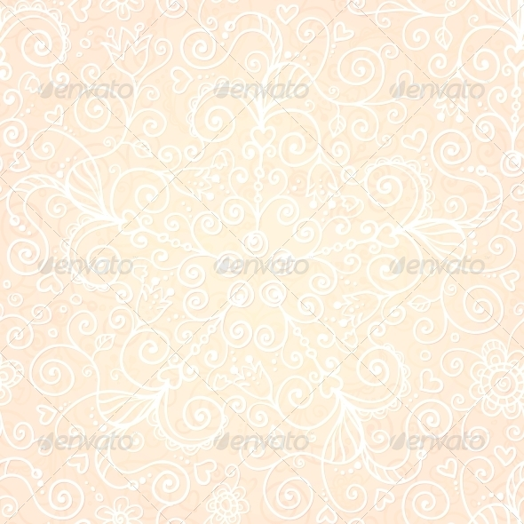 Vector Doodles Vintage Ornate Seamless Pattern - Patterns Decorative