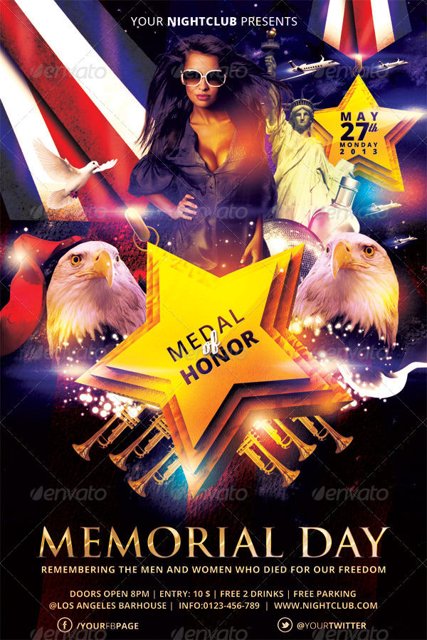 memorial day flyer template vol 03 by hermz
