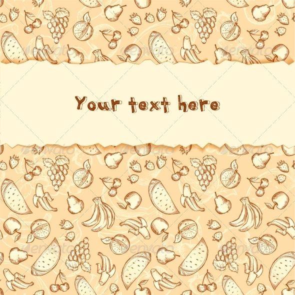 Fruit Background with Placeholder for Text - Food Objects