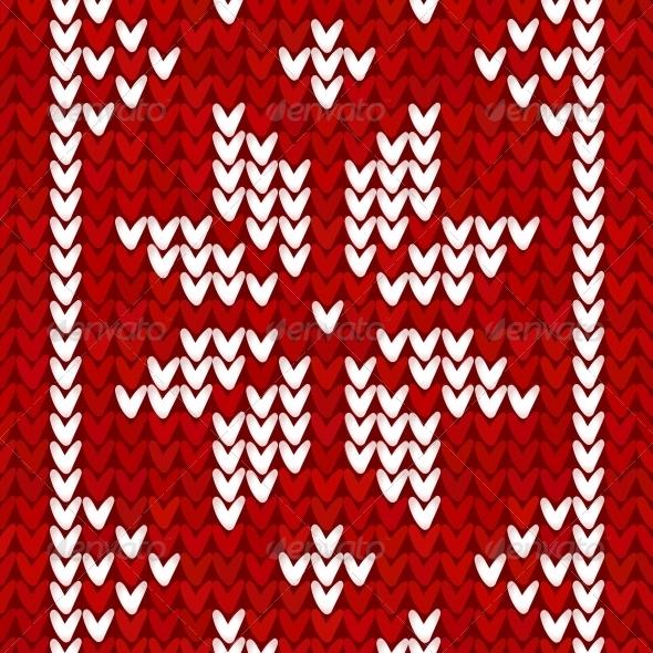 Christmas Embroidery Vector Background - Christmas Seasons/Holidays