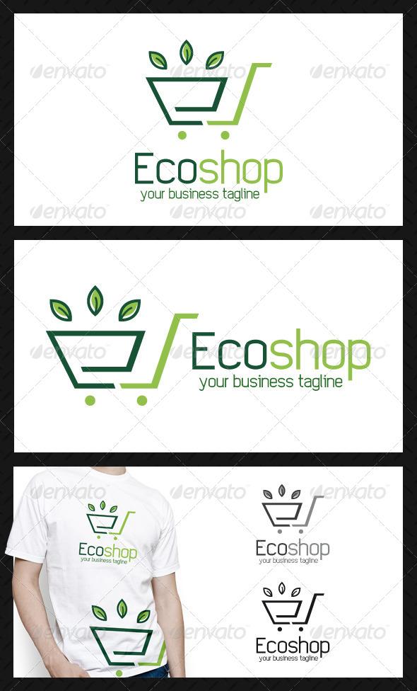 Eco Shopping Logo Template - Nature Logo Templates