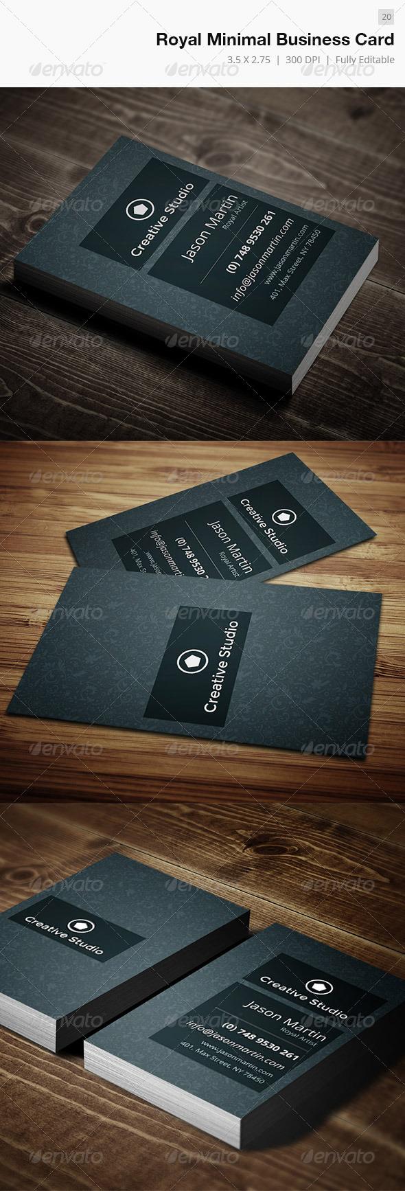 Royal Minimal Business Card - 20 - Creative Business Cards