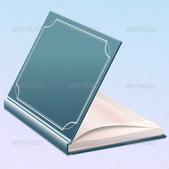 Open Book with Blank Pages - Man-made Objects Objects