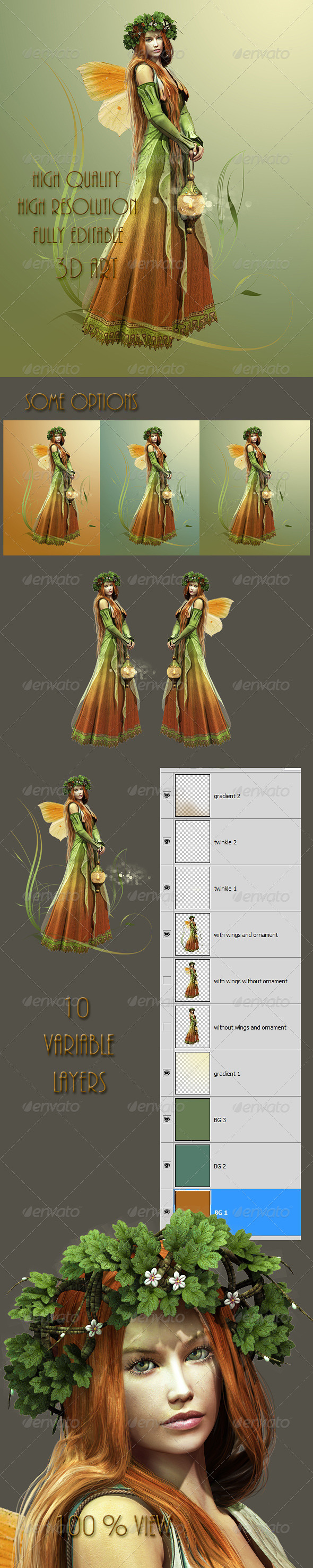 Deep Forest Elf - Illustrations Graphics