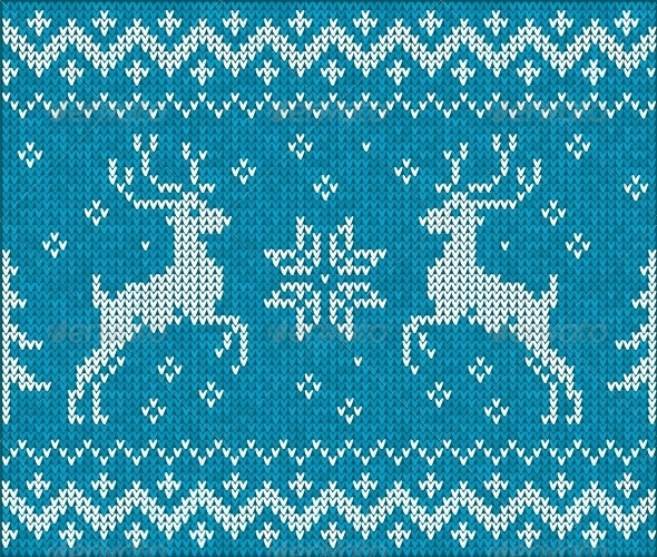 Sweater with Deer - Christmas Seasons/Holidays