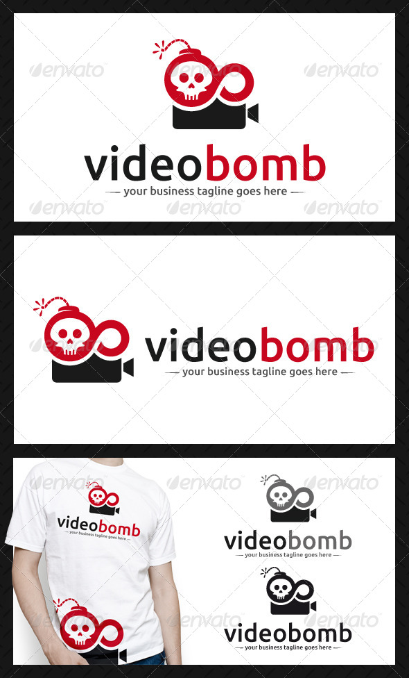Video Bomb Logo Template - Objects Logo Templates