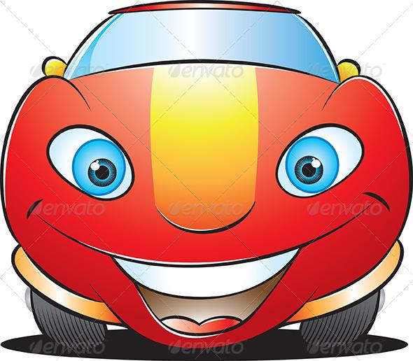 Happy Car Mascot - Characters Vectors