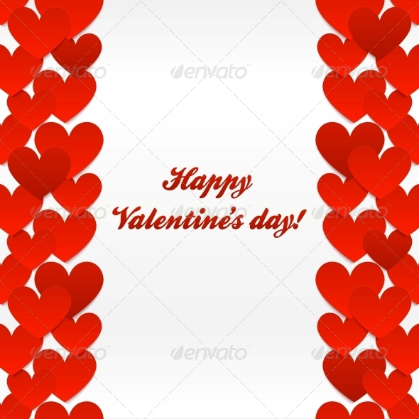 Red Hearts Valentines Day Greeting Card - Valentines Seasons/Holidays