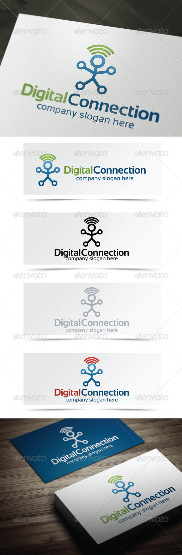 Digital Connection - Humans Logo Templates