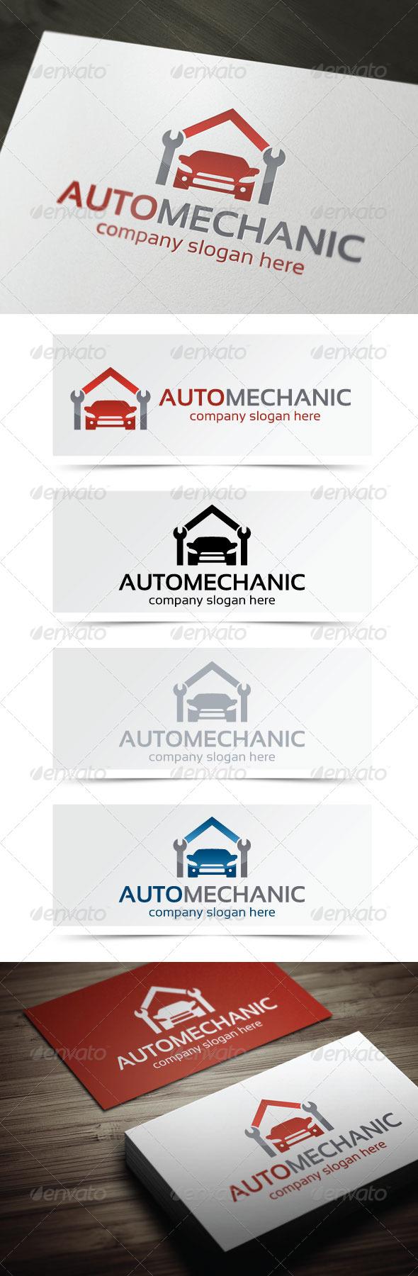 Auto Mechanic - Objects Logo Templates