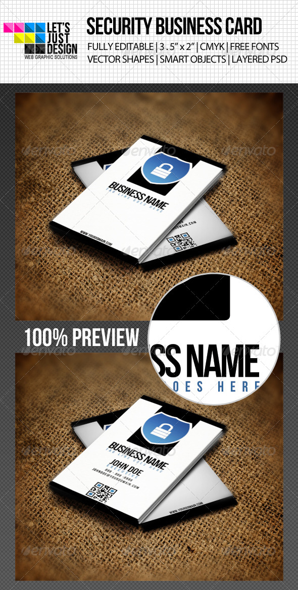 Minimal Security Business Card - Industry Specific Business Cards