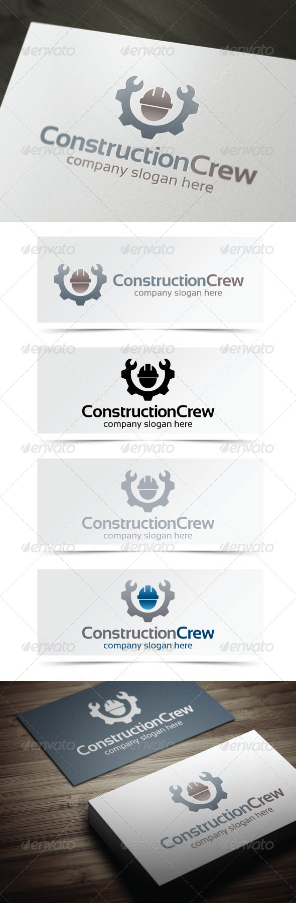 Construction Crew - Objects Logo Templates