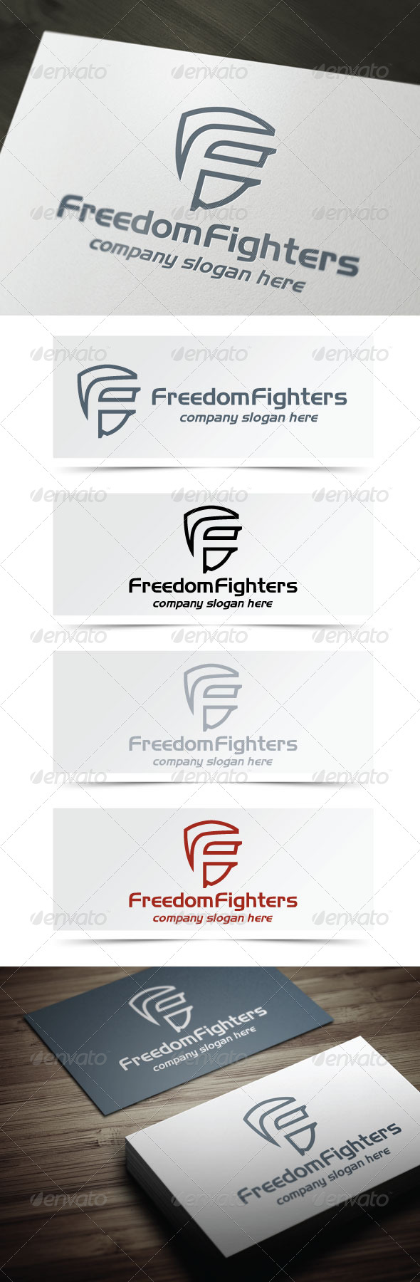 Freedom Fighters - Letters Logo Templates