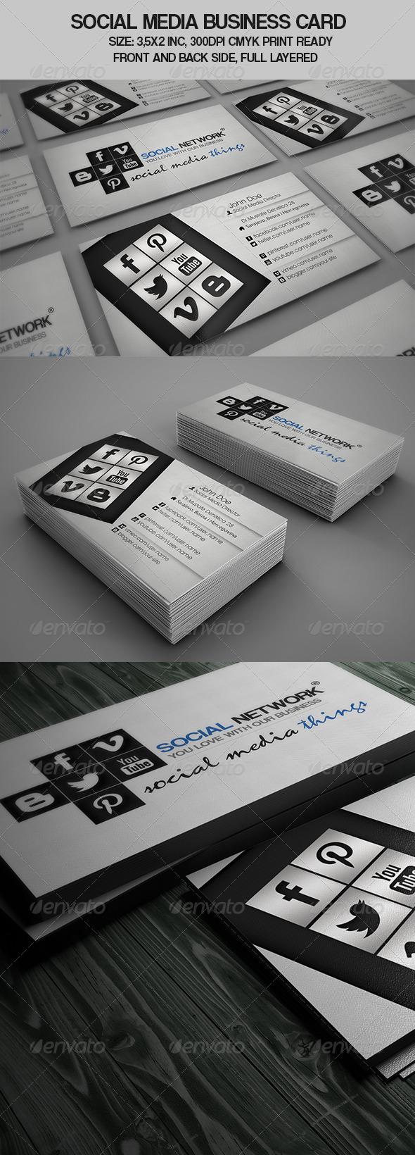 Social Media Business Card - Creative Business Cards