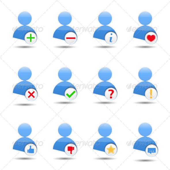 User Icons - Web Elements Vectors
