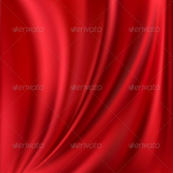 Abstract Vector Texture, Red Silk - Fabric Textures