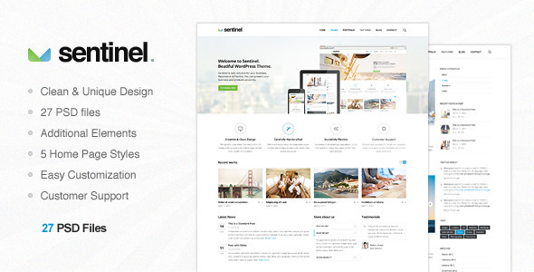Sentinel – Multi Purpose PSD Template