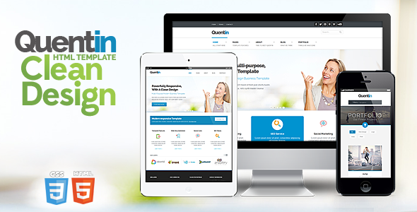 Quentin - Premium Multipurpose Responsive Template - Business Corporate