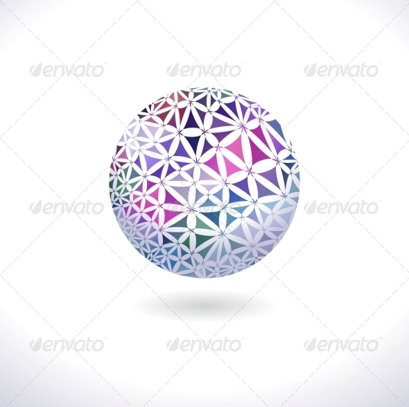 Prismatic Faceted Sphere - Decorative Symbols Decorative