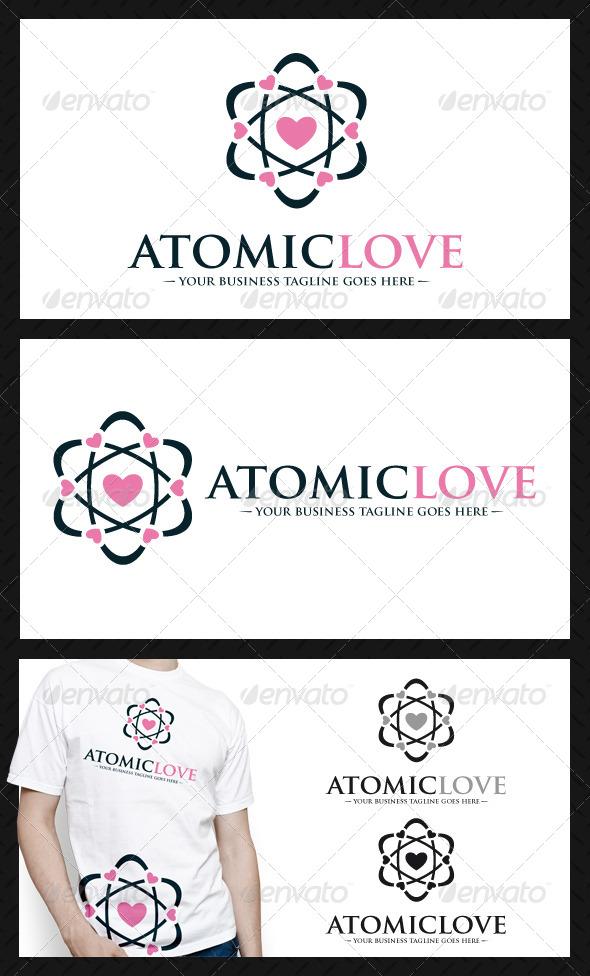 Atomic Love Logo Template - Symbols Logo Templates
