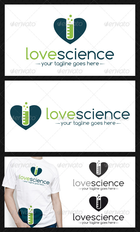 Science Love Logo Template - Objects Logo Templates