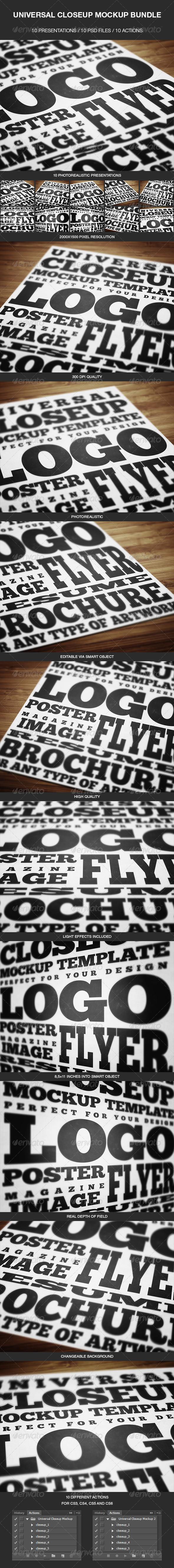 Universal Closeup Mockup Bundle - Print Product Mock-Ups