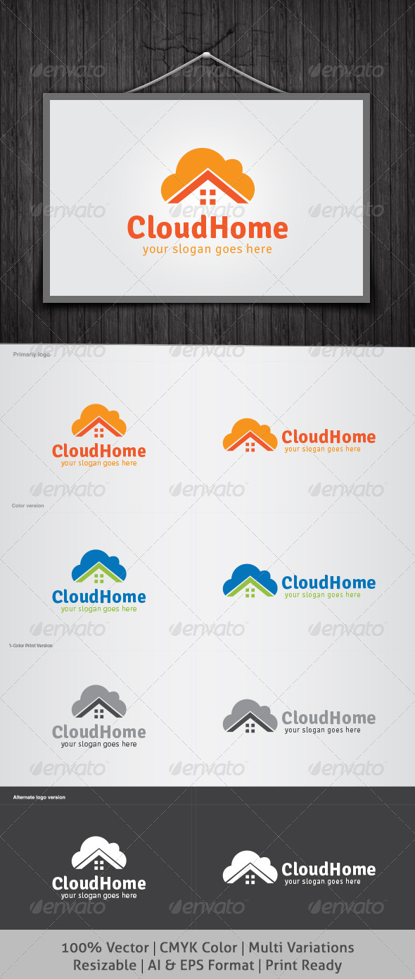 Cloud Home Logo - Objects Logo Templates