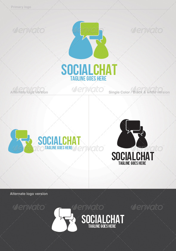 Social Chat Logo Template by themedia | GraphicRiver