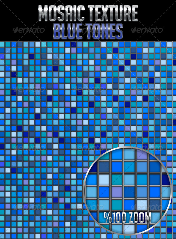 Mosaic Texture Blue Tones - Textures