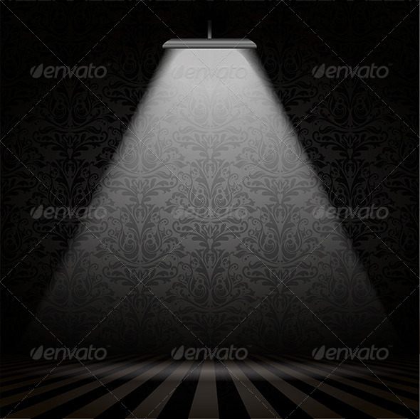 Interior with Spotlight - Backgrounds Decorative