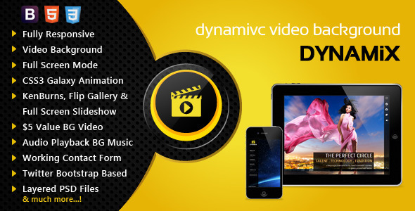 Dynamix Responsive Full Screen Background Theme - Portfolio Creative