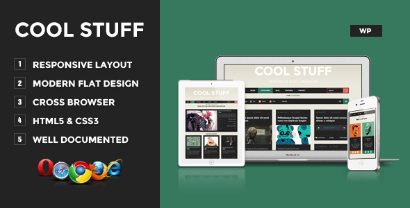 Cool Stuff – WordPress Responsive Blog/Magazine