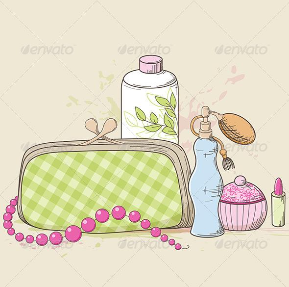 Handbag and Cosmetics - Miscellaneous Vectors