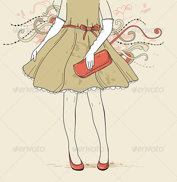 Girl in Evening Dress - People Characters