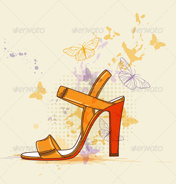 Orange Shoe - Miscellaneous Vectors