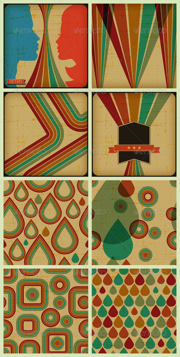 Retro Posters and Seamless Patterns - Retro Technology
